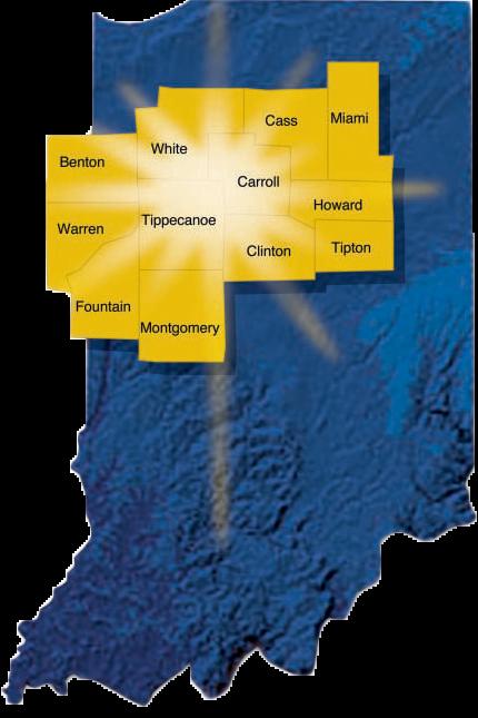 Twelve County Map